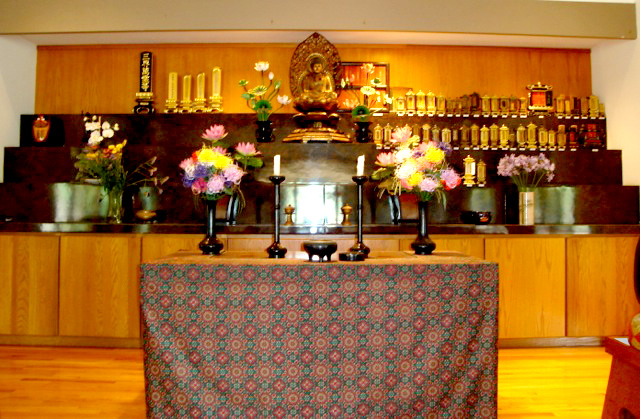 Inside the Rinzai Maui Zen Buddhist Temple