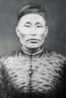 Kochi Chojo in Manchu apparel.